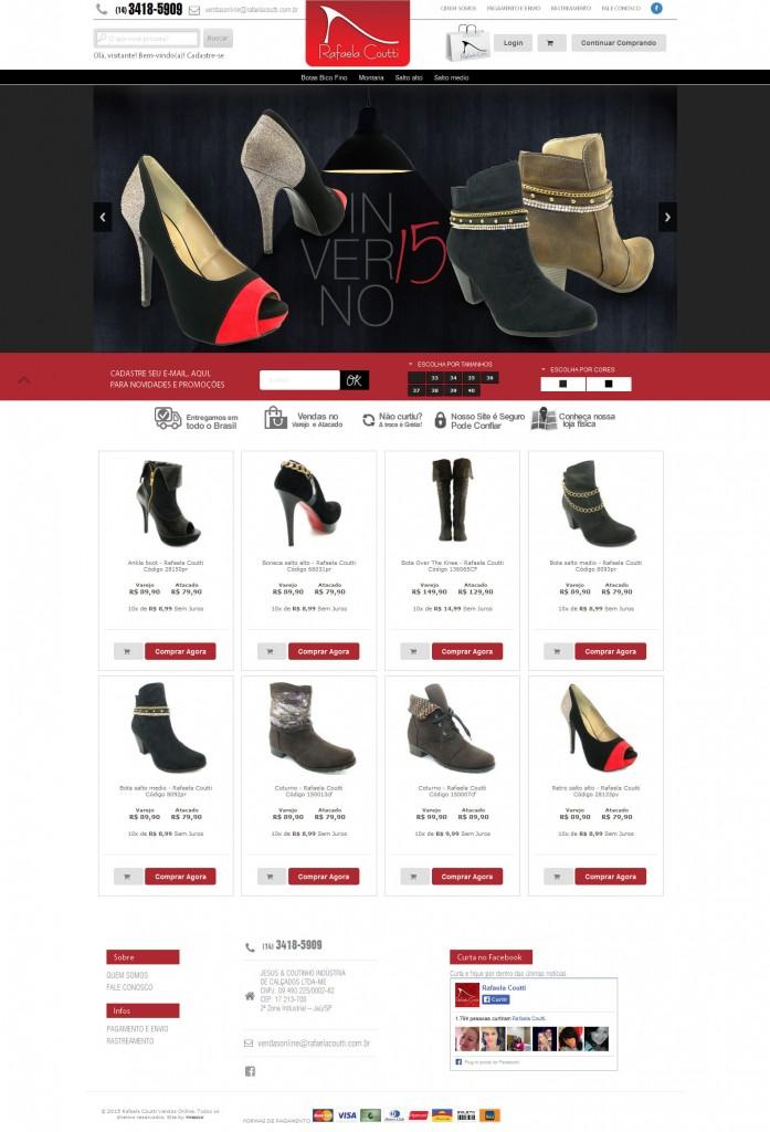 9d8928460 Rafaela Coutti Calçados com novo site no ar! Compre online! - O ...